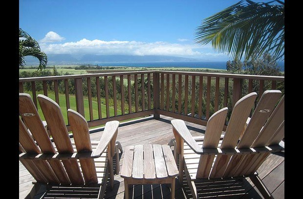 Deck view out to West Maui