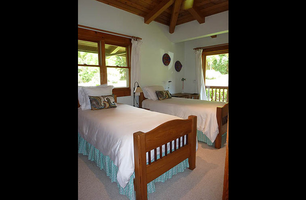 Bedroom #2 - two twin beds with private bath located in the main wing of the house
