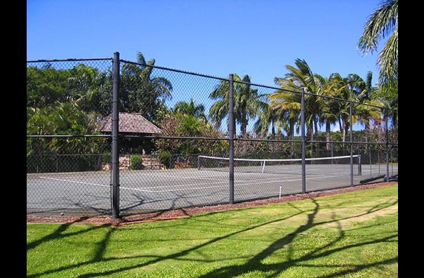 A clay tennis court